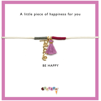 Picture of Peace Tassel Cord Bracelet