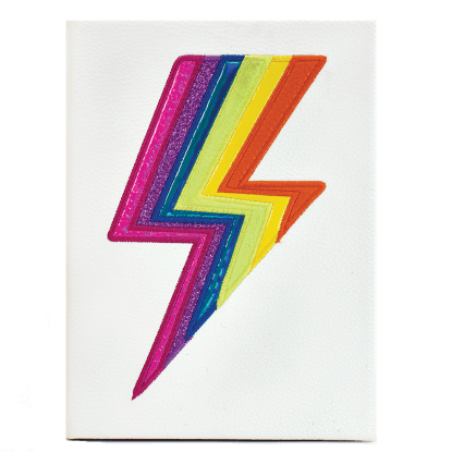 Picture of Rainbow Lightning Faux Leather Journal