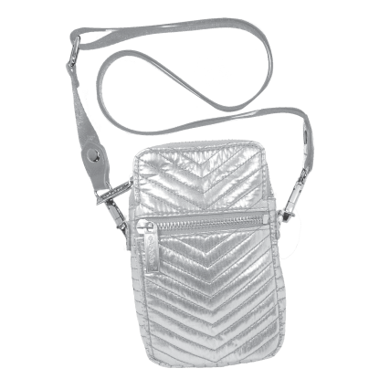 Picture of Silver Chevron Cell Bag