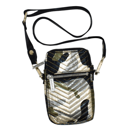 Picture of Metallic Camo Chevron Cell Bag
