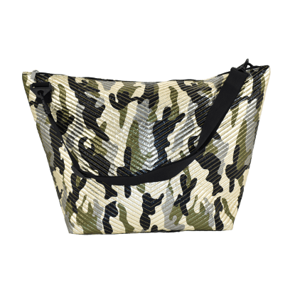 Picture of Metallic Camo Chevron Weekender Bag