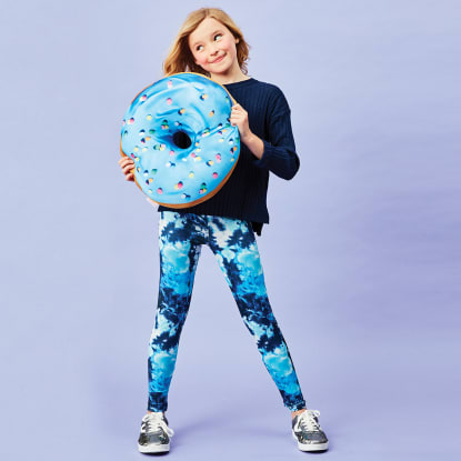 Picture of Blue Tie Dye Leggings
