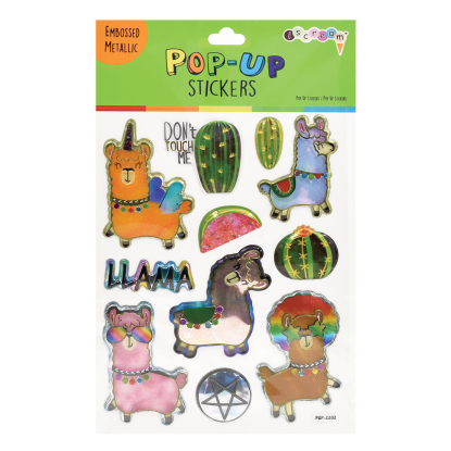 Picture of Llamas Pop-Up Stickers