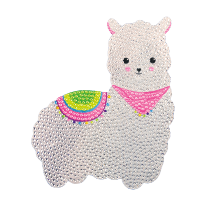 Picture of Llama Rhinestone Decal Large
