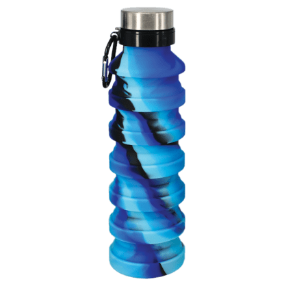 Picture of Blue and Black Collapsible Water Bottle
