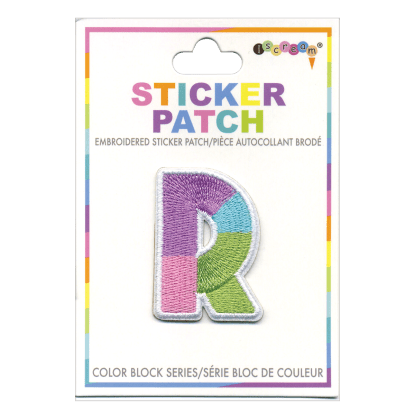 Picture of R Initial Color Block Sticker Patch