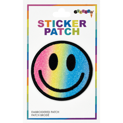 Picture of Smiley Face Embroidered Sticker Patch