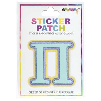 Picture of Pi Greek Letter Sticker Patch