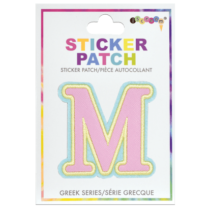 Picture of Mu Greek Letter Sticker Patch