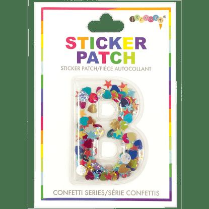 Picture of B Initial Confetti Sticker Patch