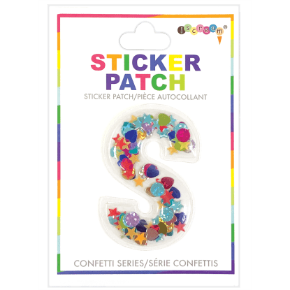Picture of S Initial Confetti Sticker Patch