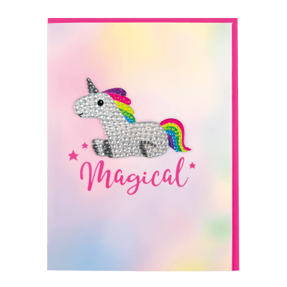 Picture of Unicorn Rhinestone Decal Greeting Card