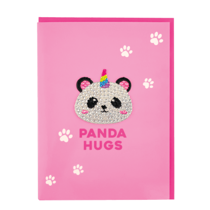 Picture of Panda Rhinestone Decal Greeting Card