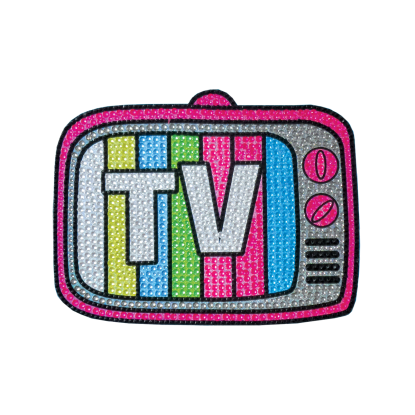 Picture of TV Rhinestone Decal Small