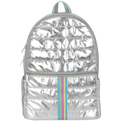 Picture of Silver Rainbow Puffer Backpack