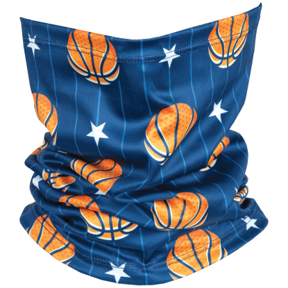 Picture of Basketballs and Stars Gaiter Face Mask