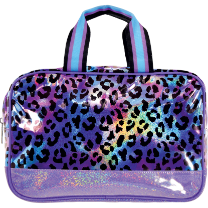 Picture of Iridescent Leopard Large Cosmetic Bag