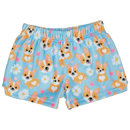 Picture of Corgis and Daisies Plush Shorts