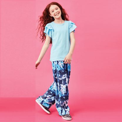 Picture of Tie Dye Blue Plush Pants