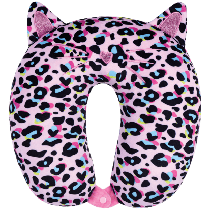 Picture of Pink Leopard Neck Pillow