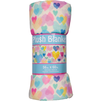 Picture of Pastel Hearts Plush Blanket