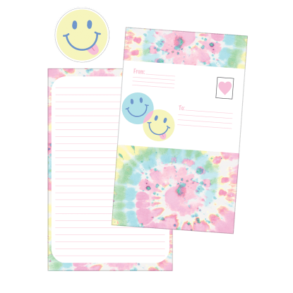 Picture of Swirl Tie Dye Foldover Cards