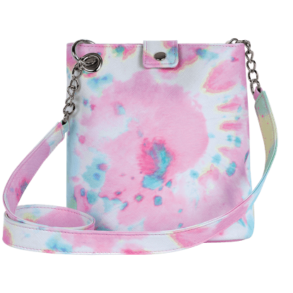 Picture of Swirl Tie Dye Faux Leather Bucket Bag