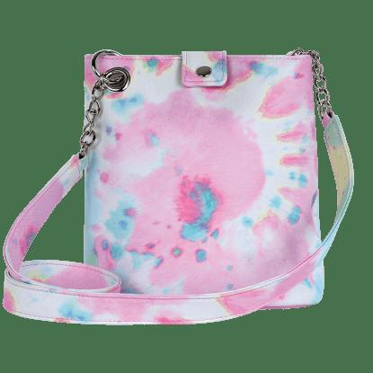 Picture of Swirl Tie Dye Faux Leather Bucket Bag