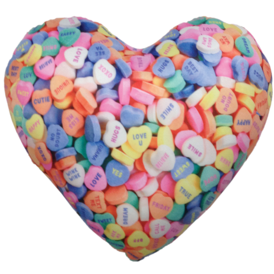 Picture of Conversation Heart Microbead Pillow