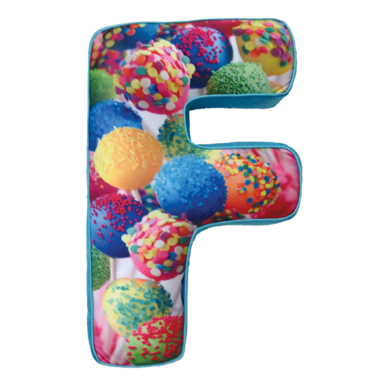 Picture of F Initial Microbead Pillow