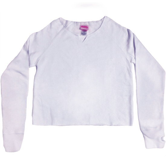 Picture of White Cut-Off Sweatshirt