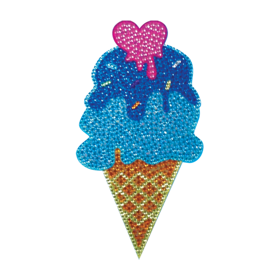 Picture of Melting Heart Cone Rhinestone Decals