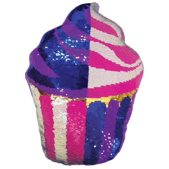 Picture of Cupcake Reversible Sequin Pillow