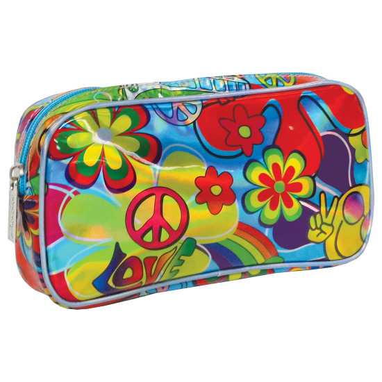 Picture of Hippie Love Holographic Small Cosmetic Bag