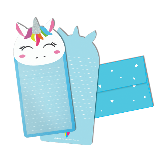 Picture of Unicorn Glitter Notecards