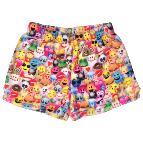 Picture of Emoji Collage Plush Shorts