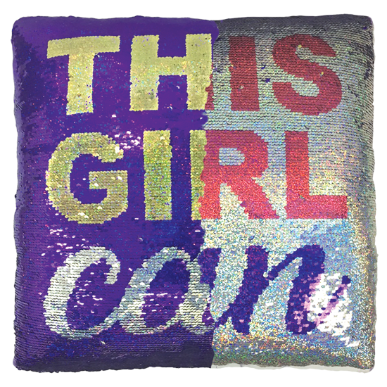 This Girl Can Reversible Sequin Pillow