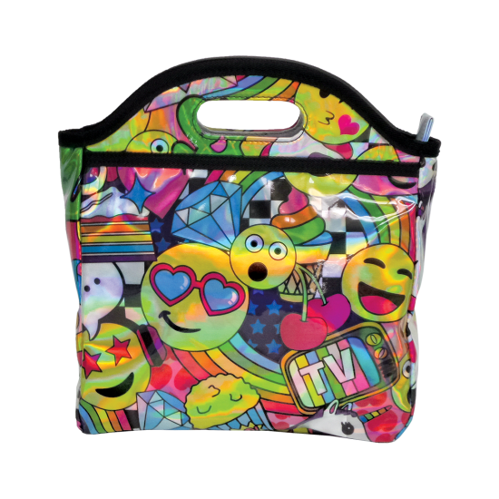 Picture of Emoji Party Holographic Lunch Tote