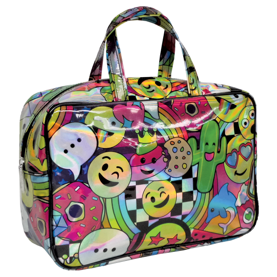 Picture of Emoji Party Holographic Large Cosmetic Bag
