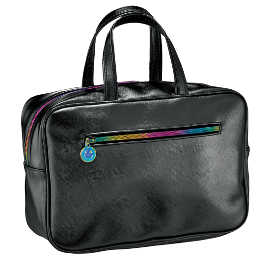 Picture of Black Metallic Large Cosmetic Bag