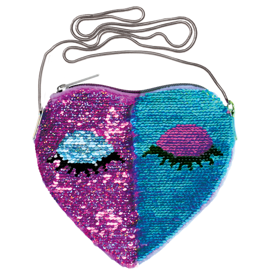 Picture of Heart Eyes Reversible Sequin Crossbody Bag