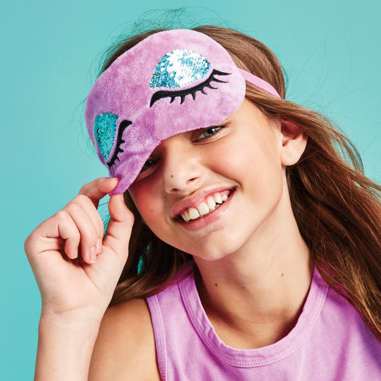 Picture of Heart Eyes Reversible Sequin Eye Mask