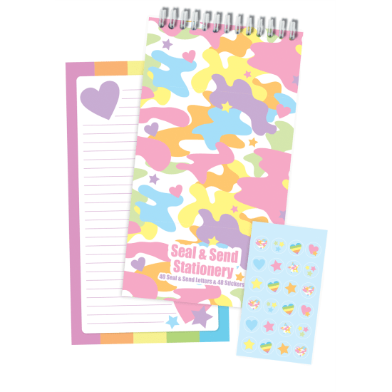 Picture of Rainbow Camo Seal & Send Stationery