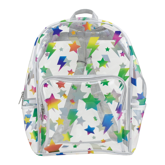 Picture of Stars and Lightning Clear Backpack