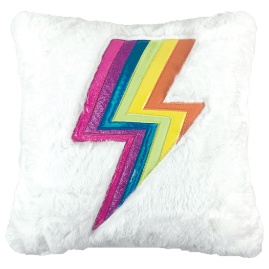 Lightning Furry Pillow