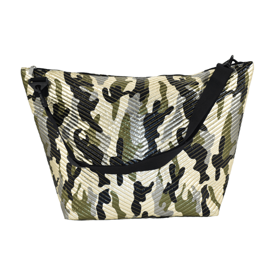 Picture of Metallic Camo Chevron Weekender Bag