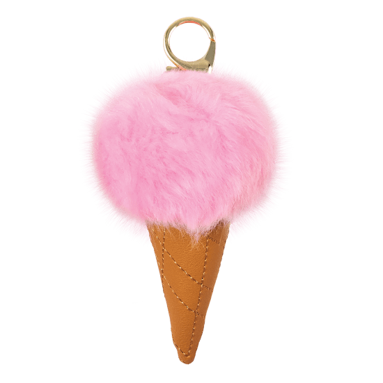 Picture of Ice Cream Furry Pom-Pom Clip Pink