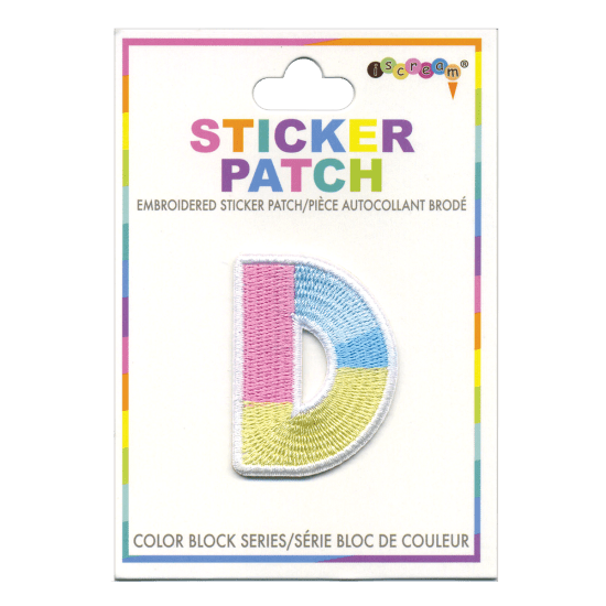 Picture of D Initial Color Block Sticker Patch