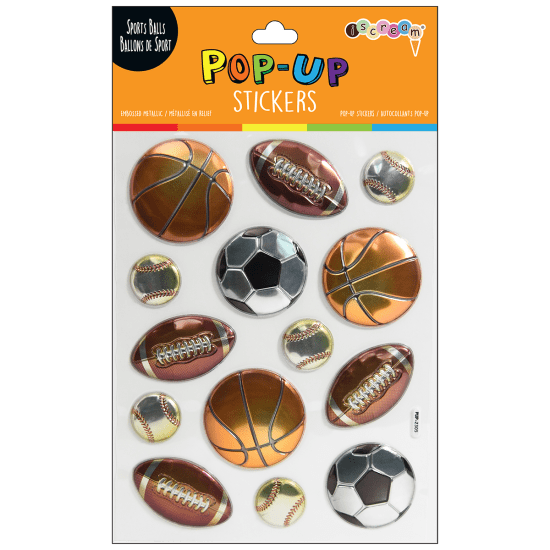 Picture of Sports Balls Pop-Up Stickers