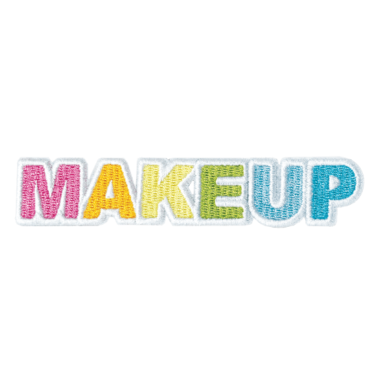 Picture of Makeup Embroidered Sticker Patch